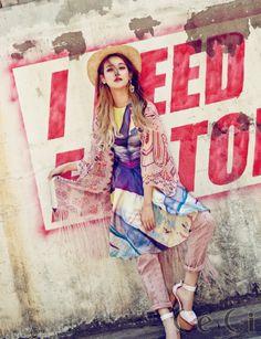 Korean Actress Oh Yeon Seo Ceci Magazine July 2015 Photoshoot Fashion