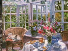 """""""Sunday Morning, by Stephen Darbishire RBA.  Copyright The Robertson collection.  Copyright Stephen Darbishire."""