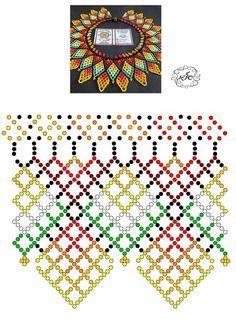 Foto Natali Khovalko Diy Necklace Patterns, Beaded Jewelry Patterns, Seed Bead Flowers, Beaded Flowers, Peyote Patterns, Beading Patterns, Fabric Beads, Bead Jewellery, Handmade Beads