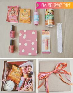 Color Themed Gift Idea. DIY - Easy and pretty || by Minna on Feeling Inspired Today (blog in link not active)