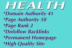 give you DA41 PA50 Guestpost or blogroll Health Niche by johanguest