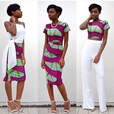 How to make good use of a 6 yards prints cloth #fashionghanamagazine #beautiful #dress  #africanprints #stylish #pose #africanbeauty #style#stylish  #skirt #croptop #white #green #printspopping  Fashionghanarocks