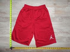 Boys Jordan Basketball Shorts Youth Size M Medium Red Kids Athletic Running Gym #JORDAN #Everyday