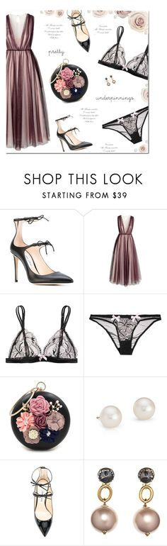 """Pretty Little Things"" by yummymummystyle ❤ liked on Polyvore featuring Jimmy Choo, H&M, L'Agent By Agent Provocateur, WithChic, Blue Nile, Marni, Prom, summerwedding, fashionology and polyvoreatitsbest"