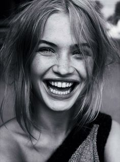 Woman laugh woman smiling huge smile teeth Black and white grayscale monochrome woman female portrait photography and professional headshot from front view fashion editor. Photography Poses Women, Eye Photography, Fashion Photography, Landscape Photography, Smiling Photography, Photography Outfits, Landscape Photos, Happy People Photography, Woman Portrait Photography