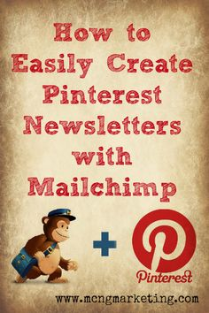 Create Newsletters with Mailchimp Business Marketing, Email Marketing, Content Marketing, Business Tips, Social Media Marketing, Digital Marketing, Web Business, Marketing Ideas, Pinterest For Business