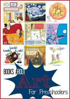 Inspire the budding artist in your child with these books about art for preschoolers