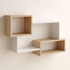 Unique Wall Shelves, Home Decor Shelves, Wall Shelf Decor, Wooden Shelves, Diy Home Decor, Cool Shelves, Shelves For Books, Shelves For Bedroom, Decorative Shelves