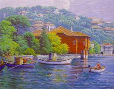 Ahmet Yakupoğlu Turkey Art, Istanbul, Studio, Eminem, Oil Paintings, Google, Magick, Colors, Houses