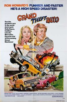 vintage movie poster grand theft auto
