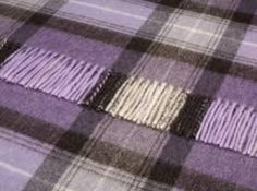 Luxury Merino Lambs Wool Lavender Skye Check Throw 140x185cms - Throws - New arrivals - Shop By Size Sofa Throws
