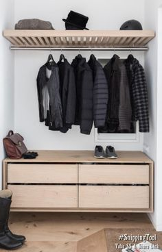 Insane Simple entryway with wood furniture and beautiful shoe and coat storage. The post Simple entryway with wood furniture and beautiful shoe and coat storage…. appeared first on Home Decor Designs . Storage, Bedroom Storage, Decor Design, Furniture, Wood Furniture, Cabinet Inspiration, Coat Storage, Home Decor, House Interior