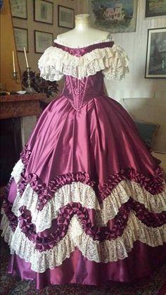 abito storico femminile 1860