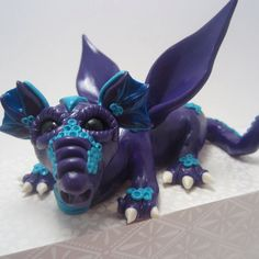 OOAK Polymer Clay Dragon Sculpture by HeatherDClayground