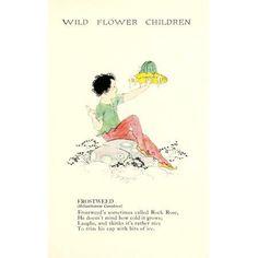 Wild Flower Children c1918 Frostweed Canvas Art - Janet Laura Scott (18 x 24)