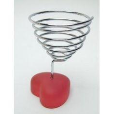 Heart egg cup set for 6:  Hab & Gut (egg.h) 6er Set Eierbecher Herz