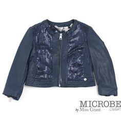 Microbe udsalg børnetøj Eco læder jakke med pailletter tilbud børnetøj