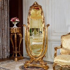Tilts back and forth, elegant inlay work provides a classic look. The perfect addition to any home. Royal Bedroom, Dream Bedroom, Cheval Mirror, Mirrors Wayfair, Frame Stand, Standing Mirror, Aesthetic Room Decor, My New Room, Victorian Homes