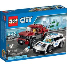 Take a drive around the city in the police supercar! Turn a corner and spot the crook trying to break into it and then chase after him in his pickup truck if he tries to get away. Race ahead of him to set up the police cones and stop the bad guy. Lego City Police, Police Cars, Building For Kids, Building Toys, Legos, Radios, Welding Torch, Police Patrol, Lego Ship