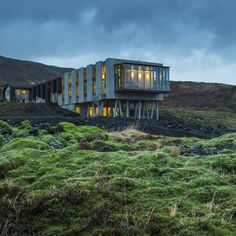 Iceland's ION Hotel.... As to the hotel, it's a comfortable blend of modern and natural elements – concrete and wood and animal skins come together harmoniously. There can't be many more bracing places to do your morning laps than the (thankfully heated) swimming pool...
