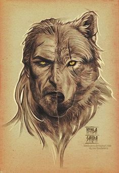 Geralt of Rivia/White Wolf (artwork by hindasavra. The Witcher Wild Hunt, The Witcher Game, The Witcher Geralt, Witcher Art, Witcher Tattoo, Arte Game Of Thrones, Wolf Artwork, Werewolf Art, Yennefer Of Vengerberg