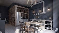 Look how much style can be packed into a small apartment. This one is only he rich space of only 40 sq.m!