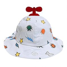 fe5c9a53e60 Baby Summer Cotton Bucket Hat Girls Brim Beach Hat Wide Brim with Strap for.  Trustamulet · Baby Sun Protection ...