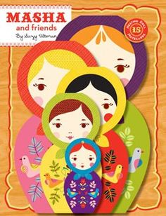 Masha and Friends: 15 Matryoshka Notecards: This adorable collection of die-cut notecards recalls the glorious colors and themes of Russian folk art. Masha Doll, Russian Folk Art, Matryoshka Doll, Kokeshi Dolls, Stationery Set, Vintage Books, Paper Goods, Note Cards, Prints