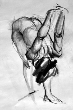 Week 9: another great example of figure drawing. It shows definition in the muscles and is in an interesting pose.