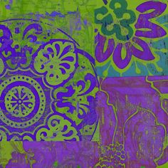 purple & green