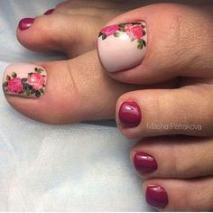 outstanding classy nail designs ideas for your ravishing look 38 - Free pattern and Tutori. 44 outstanding classy nail designs ideas for your ravishing look 38 outstanding classy nail designs ideas for your ravishing look 38 - Toenail Art Designs, Pedicure Designs, Pedicure Nail Art, Toe Nail Art, Pedicure Ideas, Toe Nail Flower Designs, Pretty Toe Nails, Cute Toe Nails, My Nails