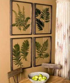 The rustic home decor ideas, the so-called drift Ferns series studies appeared in fronds were pressed between glass. Because the true leaves of the forest would break our native ferns, the images are printed on the back glass. This process creates a permanent piece of primitive device that will never fade or brown