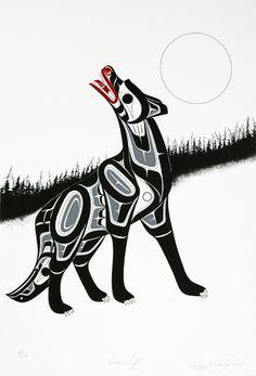 Lattimer Gallery - Richard Shorty - Limited Edition Print - Timber Wolf