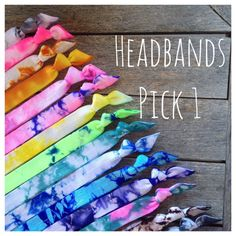 1 Tie Dye Elastic Hair Bandz Headband in either elastic or elastic. Heat sealed to help prevent fraying. You pick the color and size. Tie Dye Crafts, Diy Crafts, Tie Dye Hair, Hair Ties, Ty Dye, Tie Dye Bedding, Tie Dye Party, How To Tie Dye, Tie Dye Shirts