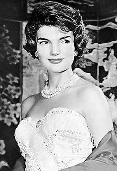 """Jacqueline """"Jackie"""" Lee Bouvier Kennedy Onassis July 28, 1929 – May 19, 1994) was the wife of the 35th President of the United States, John F. Kennedy, and served as First Lady of the United States during his presidency from 1961 until his assassination in 1963. Five years later she married Greek shipping magnate Aristotle Onassis; they remained married until his death in 1975. She is remembered for a.o. her style, elegance, and grace and as a fashion icon (famous pink Chanel suit)"""