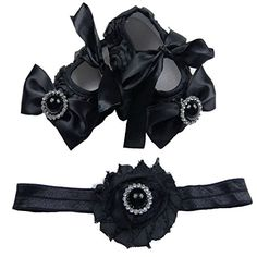 NEU! Süße Baby Ballerina in schwarz inkl. passendem Haarband - http://on-line-kaufen.de/trendydress/neu-suesse-baby-ballerina-in-schwarz-inkl
