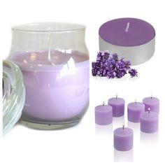 #Lavender #ScentedCandles Collection. Glass #jarcandle  #scentedvotivecandles  #scentedtealights #homefragrance