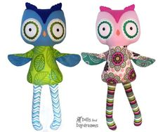 Make boy or girl Softies! ❤ They fit all our Dress Up Sewing Pattern Clothes! ❤ They come in 4 Hoop Sizes! & Perfect for Memory, Keepsake, & Heirloom Toys! Owl Patterns, Pdf Sewing Patterns, Embroidery Patterns, Machine Embroidery, Sewing Ideas, Dolls And Daydreams, Fox Pattern, Fabric Toys, Lol Dolls