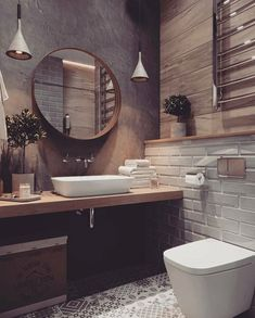 If you want to have an industrial bathroom the key factor is to take the edge of the harsh industrial look. Bathroom design Creating A Convenient Industrial Bathroom - House Topics Amazing Bathrooms, Bathroom Inspiration, Bathroom Renos, House Interior, House Bathroom, Modern Bathroom, Interior, Best Bathroom Designs, Home Decor