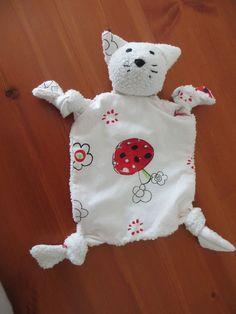 schnuffeltuch baby für babys genäht selber nähen tier katze bär hase einfach schmusetuch süß