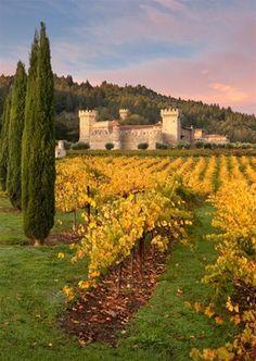 The  Castello di Amorosa in  Calistoga, Napa Valley, California.