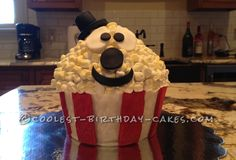 Coolest Popcorn Cake for Movie Themed Birthday... This website is the Pinterest of birthday cake ideas