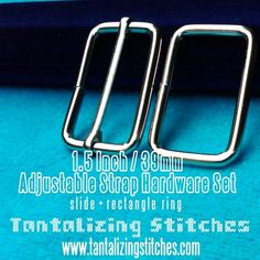 5 Sets Adjustable Strap Kit with slide and by tantalizingstitches (Craft Supplies & Tools, Jewelry & Beading Supplies, Findings & Hardware, square rings, metal, shiny, silver, san jose, california, sfetsy team, diy, destash, wire, cccoe team, adjustable strap)