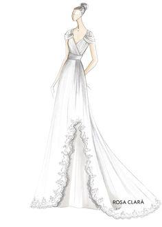 Rosa Clará Bridal - fashion illustration - wedding dress