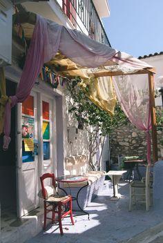 Cosy corner in Skiathos, Greece Beach Honeymoon Destinations, Greece Honeymoon, Travel Destinations, Greece Tours, Greece Travel, New Travel, Travel Alone, Skiathos Island, Zakynthos