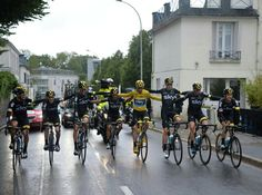 Chris Froome with Team Sky as he celebrates winning the 2015 Tour de France.