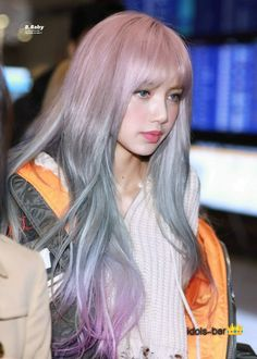 Lisa (Black Pink) would surely make the visuals in many groups less if she really has this hairstyle K Pop, Pink Ombre Hair, Hair Color Pink, Jennie Lisa, Blackpink Lisa, Lisa Hair, Lisa Black Pink, Lisa Blackpink Wallpaper, Kpop Hair