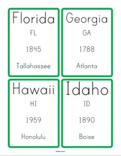 Free Ebook Learn the States and Postal Abbreviations  Printable