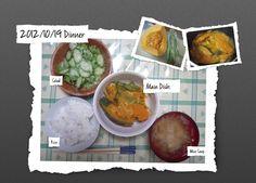 For Dinner on 19/Oct/2012