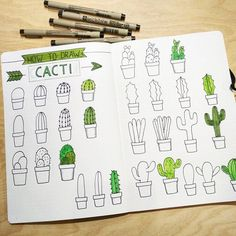 How to Draw a Cactus for the Bullet Journal Bujo Calligraphy Drawing Tutorial Dessin . - Architecture and Art - How To Draw A Cactus For The Bullet Journal Bujo Calligraphy Drawing Tutorial Dessin …, # - Bullet Journal Inspo, Bullet Journal Aesthetic, Bullet Journal Notebook, Bullet Journal 2019, Bullet Journal Ideas Pages, Bullet Journals, Calligraphy Drawing, Calligraphy Tutorial, Calligraphy Doodles
